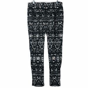 J Crew geometric black & white pants. 10